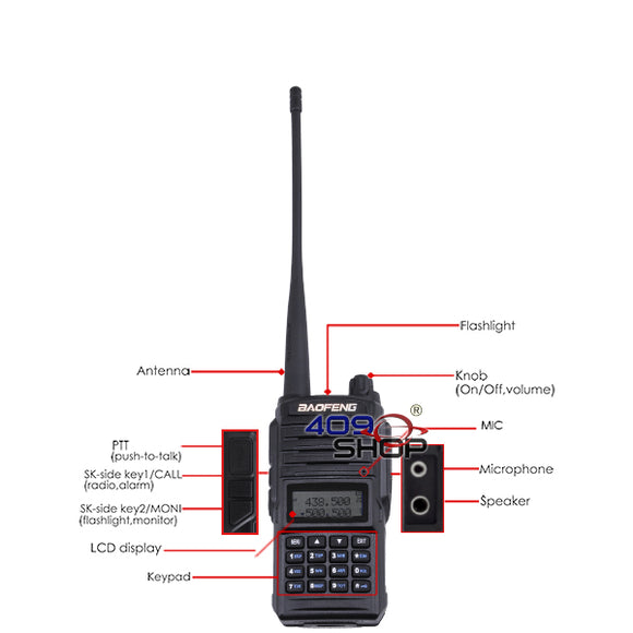 BAOFENG UV66 dual band 5W radio 136-174/400-520Mhz