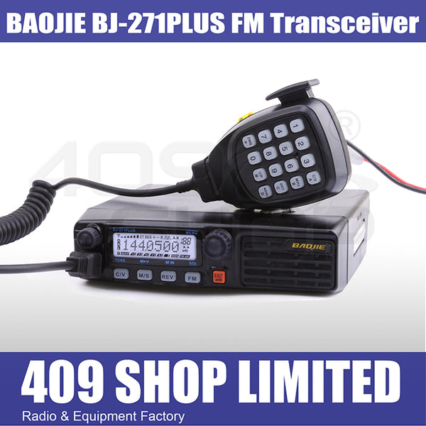 BAOJIE BJ-271PLUS Multiple Function UHF 400-470Mhz FM Car Mobile