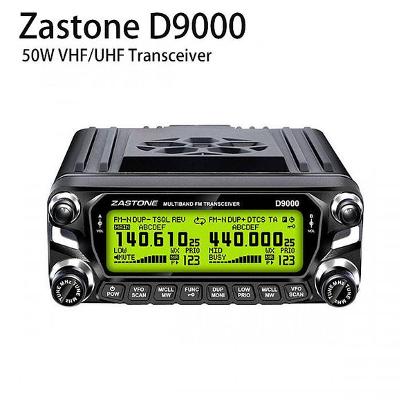 Zastone D9000 50W Car Walkie Talkie Dual Band UHF VHF Mobile Repeater Radio