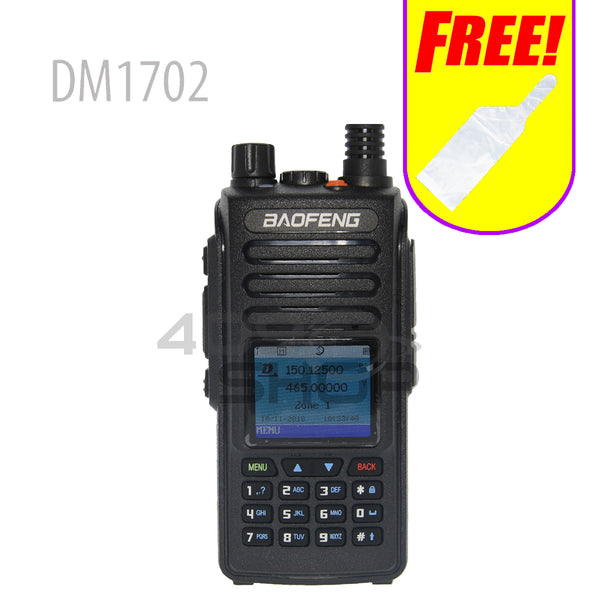Baofeng DM1702 136-174/400-470MHz DMR Two way radio walkie talkie+ Waterproof case(FREE)