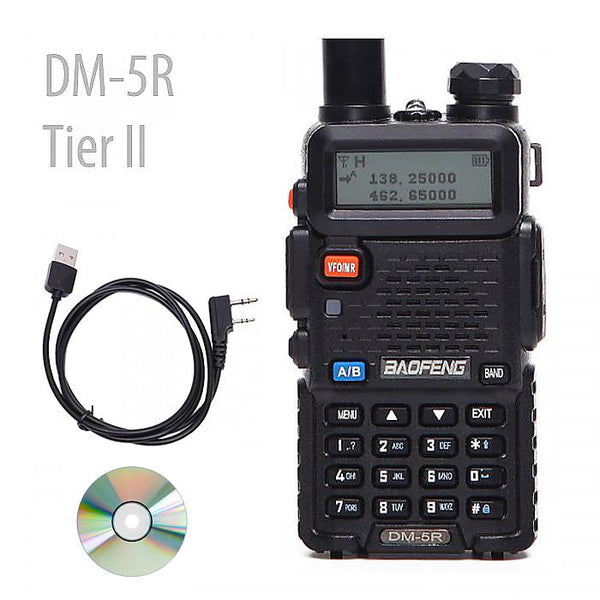 2018 New Baofeng DM-5R TierI II DMR Support DMR Free ProgCable
