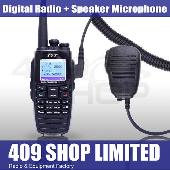 TYT DM-UVF10 DPMR Digital Radio 136-174/400-470MHz + Mini Speaker Mic