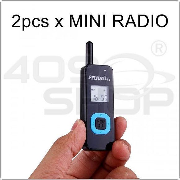 2pcs x FEIDA FE-M1 LCD Display mini Walkie Talkie two way radio FREE Earpiece
