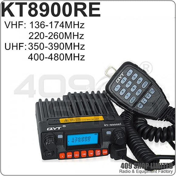 QYT KT-8900RE 136-174/220-260/350-390/400-480MHz Mini Mobile Transceiver