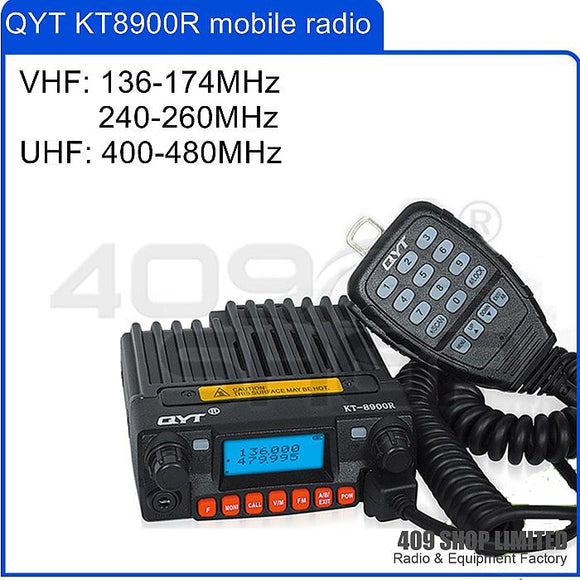 QYT KT-8900R 136-174/240-260/400-480MHz Mini Mobile Radio Transceiver