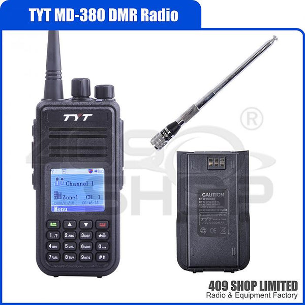 Tytera (TYT) MD-380 DMR Radio + ANTENNA + BATTERY