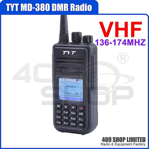 TYT MD-380 VHF 136-174MHZ Digital DMR Radio +Progr. Cable