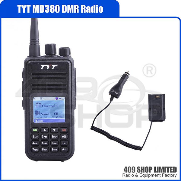 Tytera DMR MD-380 UHF 400-480MHz DMR Radio + Car Battery
