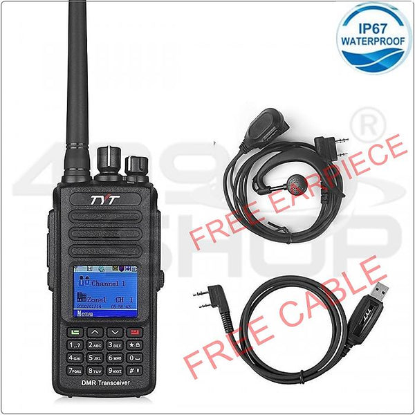 TYT MD-390 136-174MHz IP67 Waterproof Handheld Transceiver DMR Digital Walkie