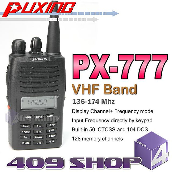 Puxing PX-777 128-Channel Two-Way Radio (Different frequency options)