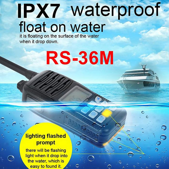Float Marine Radio Walkie Talkie RS36M 80CH IP-X7 Waterproof Intercom