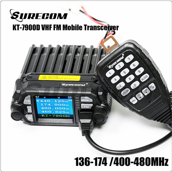 SURECOM KT-7900D color display DUAL BAND MINI MOBILE RADIO
