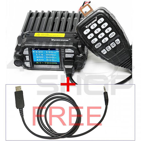 SURECOM KT-7900D color display DUAL BAND MINI MOBILE RADIO FREE USB CABLE