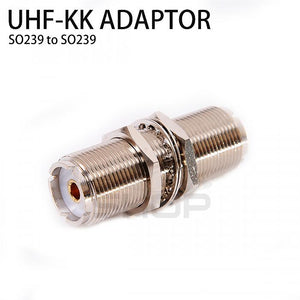 UHF Female SO239 to SO239 Female Straight Adapter