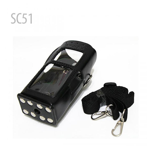 Hard PU Leather Holster Case For Motorola 2 Way Radio MTP850