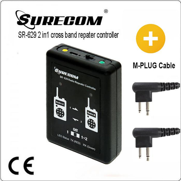 SURECOM SR-629 2 in 1 Duplex Repeater Controller with Motorola GP300 for walkie talkie