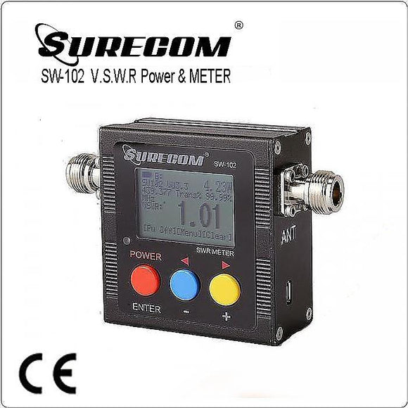 SURECOM SW-102 VU V.S.W.R. POWER METER with frequency counter