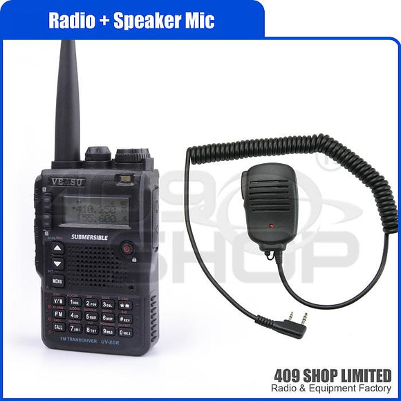VEASU UV-8DR 136-176/400-520MHz Two way radio + speaker mic