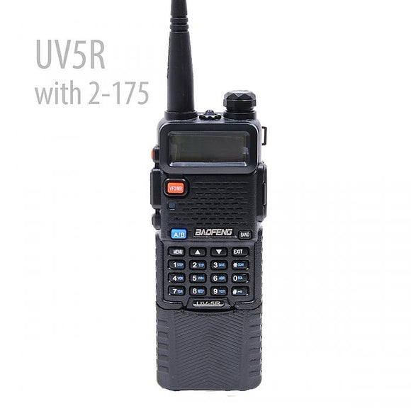 Baofeng UV-5R Dual Band UHF/VHF 6W Radio with 7.4V 3800mAh LI-ION Battery
