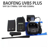 Baofeng UV-B5 Plus Walkie Talkie Power Portable Ham Two Way + FREE Speaker Mic