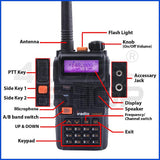 iradio UV-K4AT daul band 136-174/400-480MHZ Handheld Two Way Radio