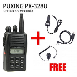 PUXING PX-328 UHF 400-470Mhz Radio + USB cable + CAR ADAPTOR + Speaker Mic