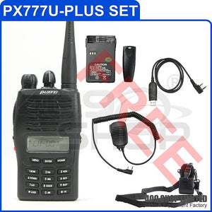 Puxing PX-777 PLUS UHF radio+ usb cable + speaker Mic + battery + soft case