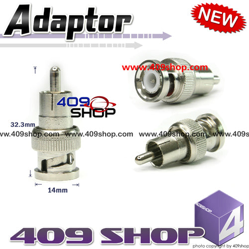 Adaptor RCA-male to BNC-male