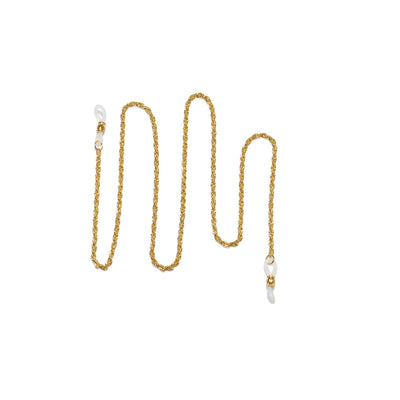NECK CHAIN | HOLLOW ROPE | GOLD