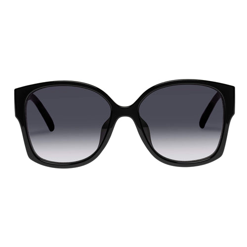 Le Specs Female Athena Alt Fit  Black Square Sunglasses
