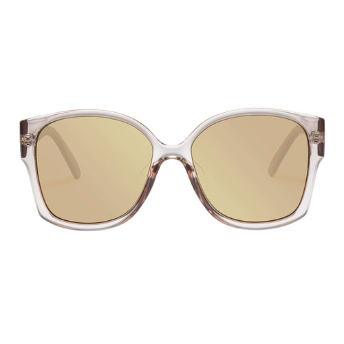 Le Specs Female Athena Alt Fit  Beige Square Sunglasses