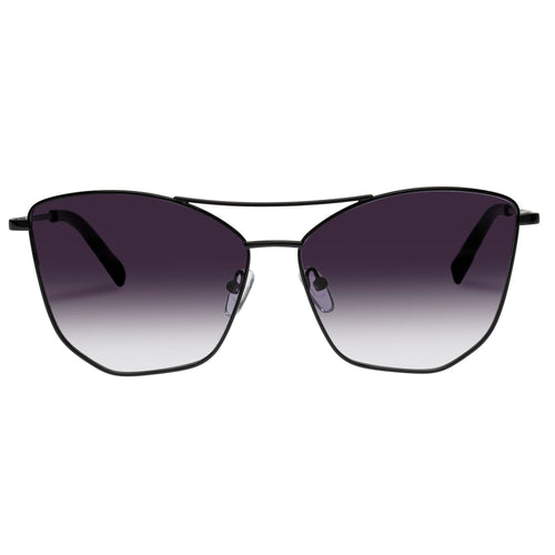Le Specs Female Primeval Alt Fit  Black Aviator Sunglasses