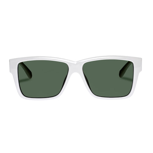 Le Specs Uni-Sex Thor Alt Fit  White Modern Rectangle Sunglasses