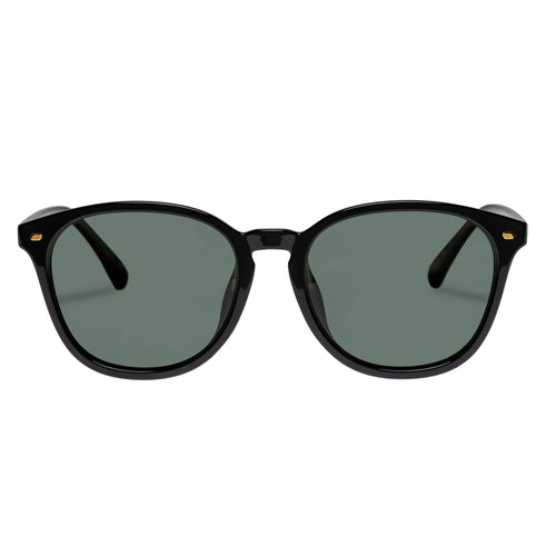 LLe Specs Uni-Sex Bandwidth Alt Fit  Black Round Sunglasses