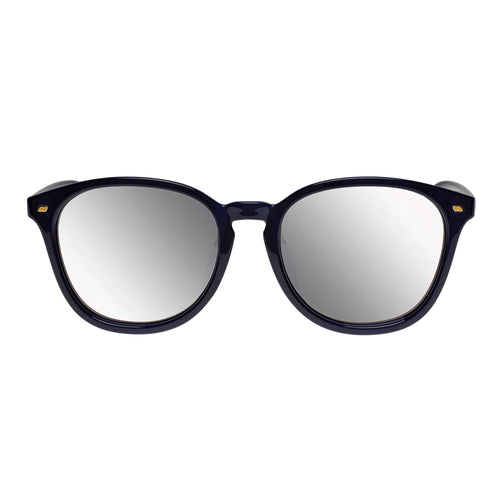 Le Specs Uni-Sex Bandwidth Alt Fit  Navy Round Sunglasses