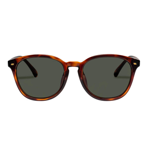Le Specs Uni-Sex Bandwidth Alt Fit  Tort Round Sunglasses