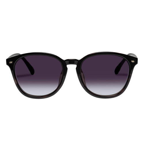 Le Specs Uni-Sex Bandwidth Alt Fit  Black Round Sunglasses