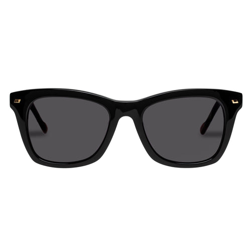 Le Specs Uni-Sex Dimmi Alt Fit  Black Modern Rectangle Rx Sunglasses