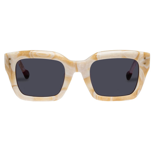 Le Specs Uni-Sex Skeptic Alt Fit  Beige Square Rx Sunglasses