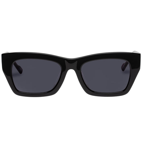 Le Specs Female Vega Alt Fit  Black Modern Rectangle Rx Sunglasses
