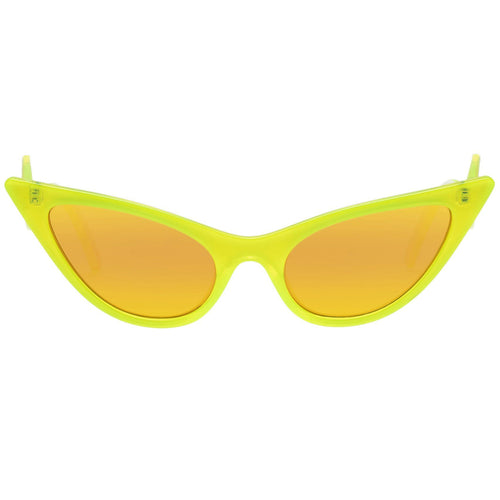 Le Specs The Prowler Womens Yellow Cat-Eye Sunglasses