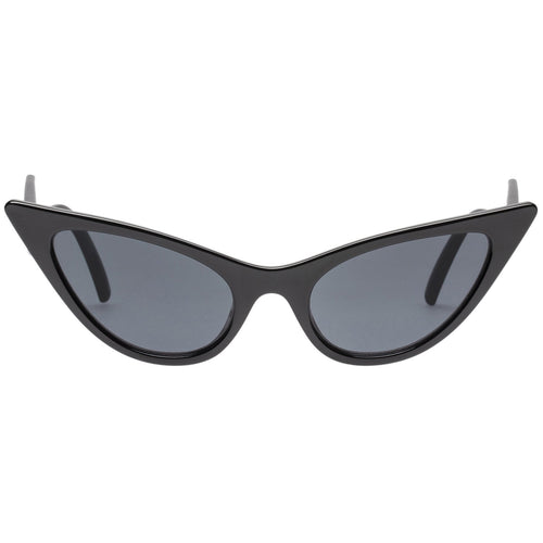 Le Specs The Prowler Womens Black Cat-Eye Sunglasses