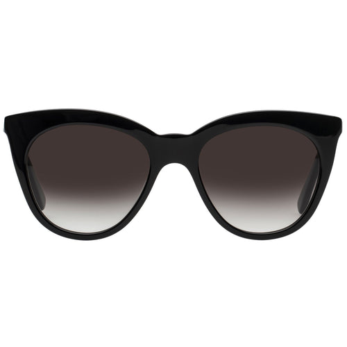 Le Specs Supermoon Womens Black Cat-Eye Prescription Ready Sunglasses