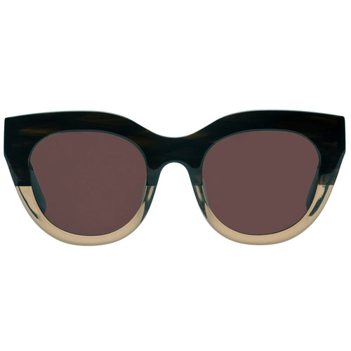 Le Specs Airy Canary Womens Brown Cat-Eye Prescription Ready Sunglasses