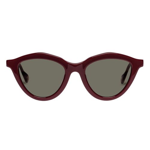 Le Specs Medina Maze Burgundy Cat-Eye Prescription Ready Sunglasses Medina Maze Burgundy Lsh2026376
