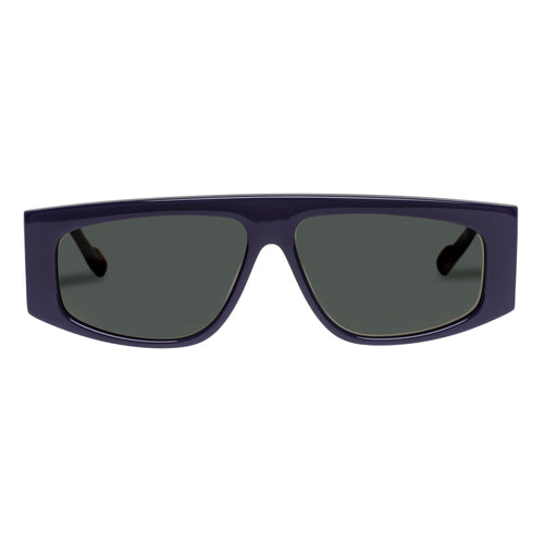 Le Specs Uni-Sex Starship Blue Rectangle Prescription Ready Sunglasses