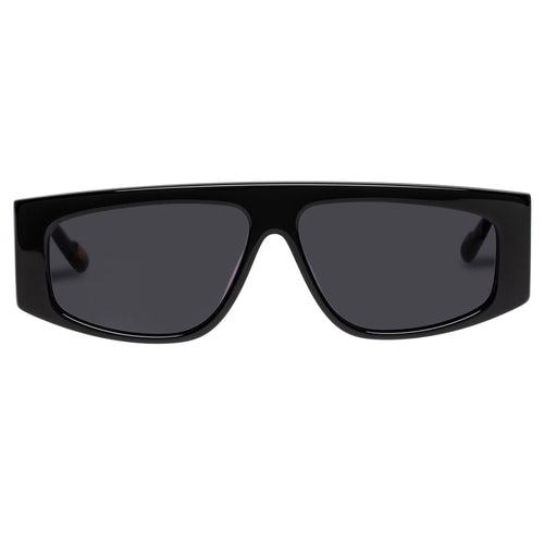 Le Specs Uni-Sex Starship Black Rectangle Prescription Ready Sunglasses