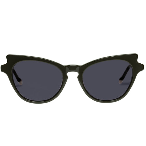 Le Specs Female Kiss Of Fire Khaki Cat-Eye Prescription Ready Sunglasses