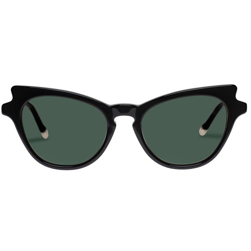 Le Specs Female Kiss Of Fire Black Cat-Eye Prescription Ready Sunglasses