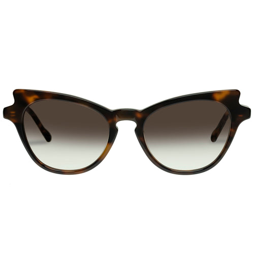 Le Specs Female Kiss Of Fire Tort Cat-Eye Prescription Ready Sunglasses